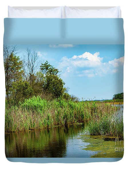 Delaware Wetlands Duvet Cover