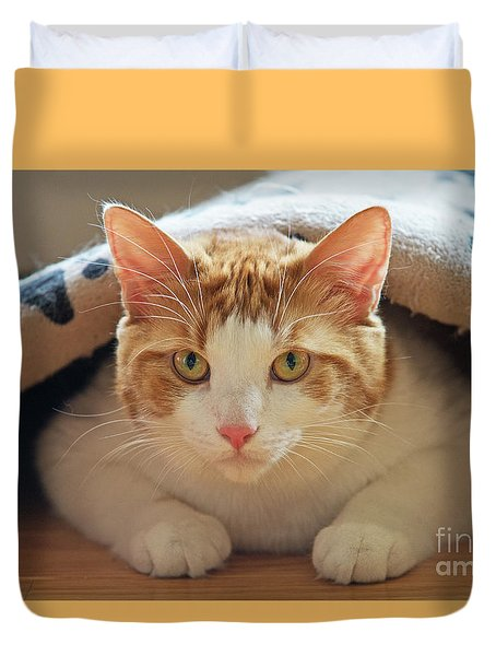 Duvet Cover featuring the photograph Delectable Companion.. by Nina Stavlund