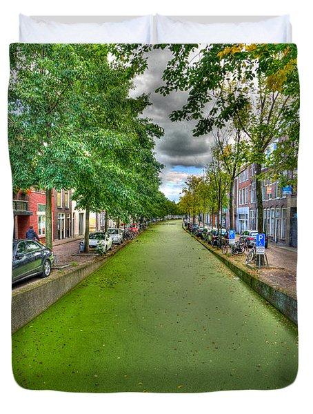 Delft Canals Duvet Cover