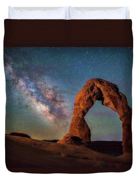 Duvet Cover featuring the photograph Delicate Air Glow by Darren White