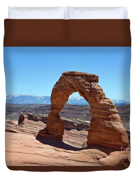 Delicate Arch Arches National Park Duvet Cover