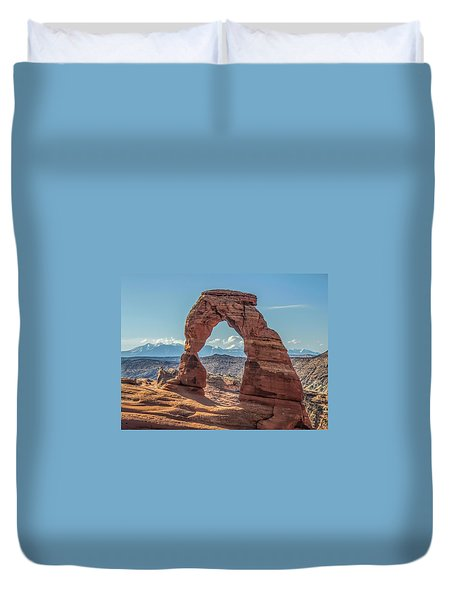 Delicate Arch In Early Morning Duvet Cover
