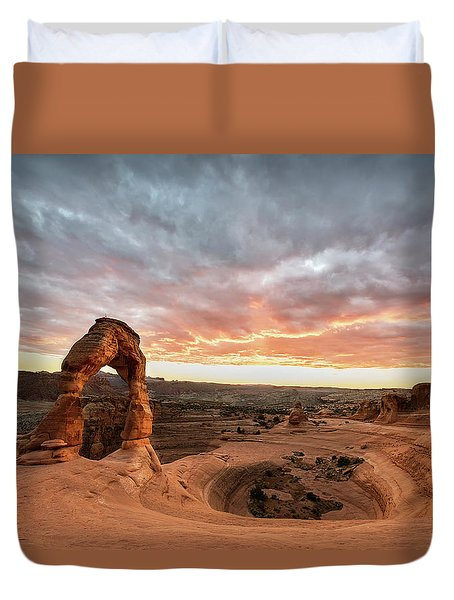 Delicate At Sunset Duvet Cover