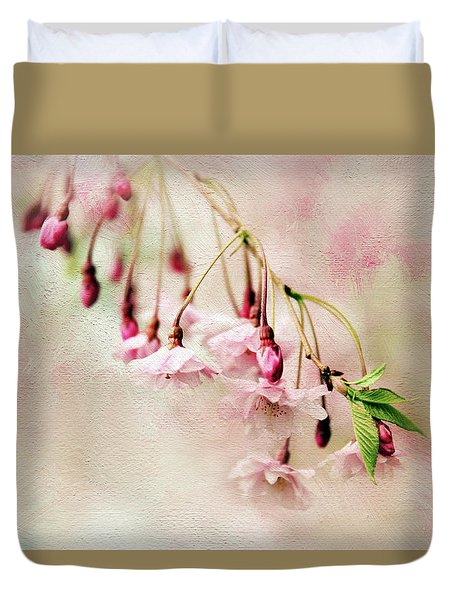 Duvet Cover featuring the photograph Delicate Bloom by Jessica Jenney