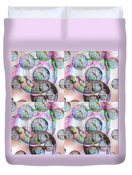 Duvet Cover featuring the photograph Delicate Bubbles by Nareeta Martin