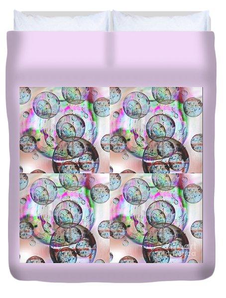 Delicate Bubbles Duvet Cover by Nareeta Martin