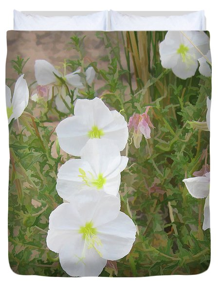 Delicate Desert Bloom - Death Valley Duvet Cover