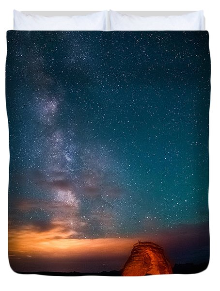 Delicate Galaxies Duvet Cover