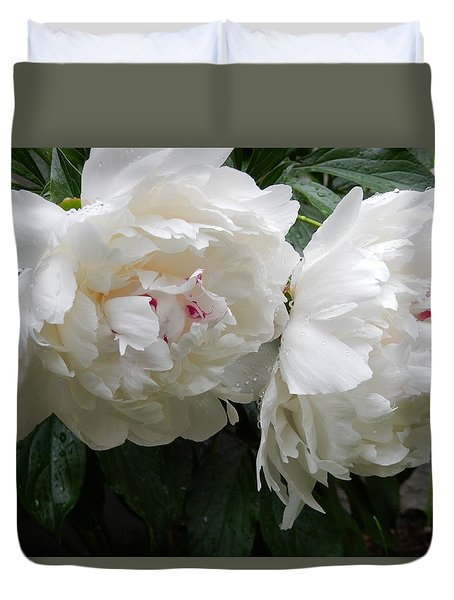 Duvet Cover featuring the photograph Delicate Pair by Betty-Anne McDonald