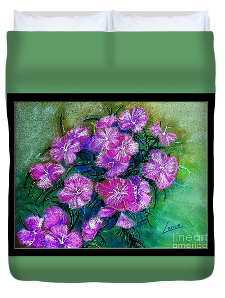 Duvet Cover featuring the pastel Delicate Pastel by Lance Sheridan-Peel