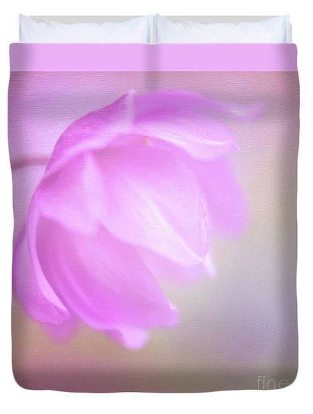 Delicate Pink Anemone Duvet Cover