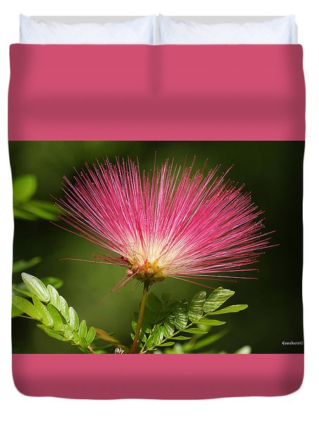 Delicate Pink Bloom Duvet Cover