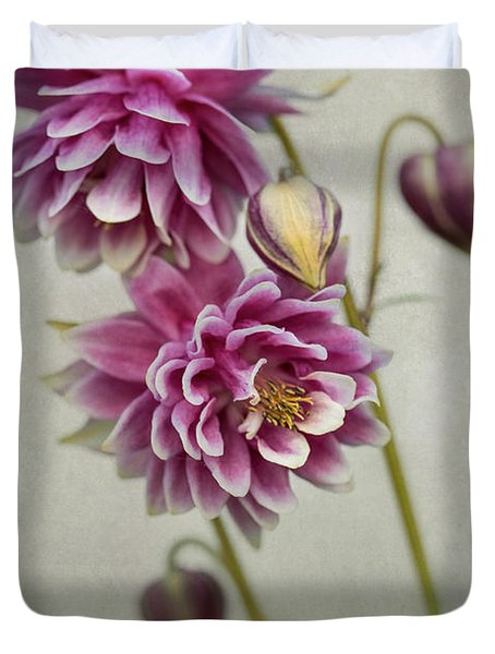 Delicate Pink Columbine Duvet Cover