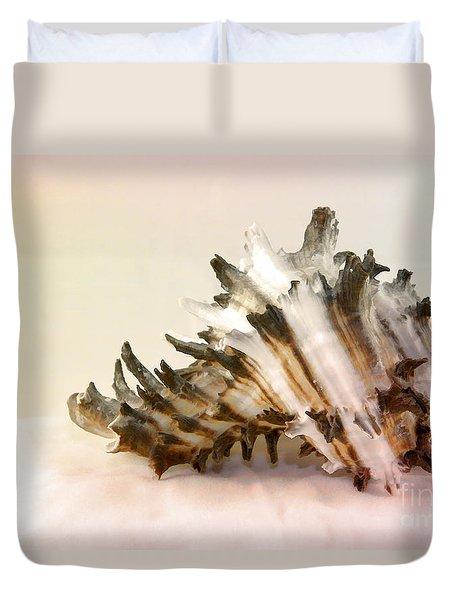 Delicate Shell Duvet Cover by Teresa Zieba
