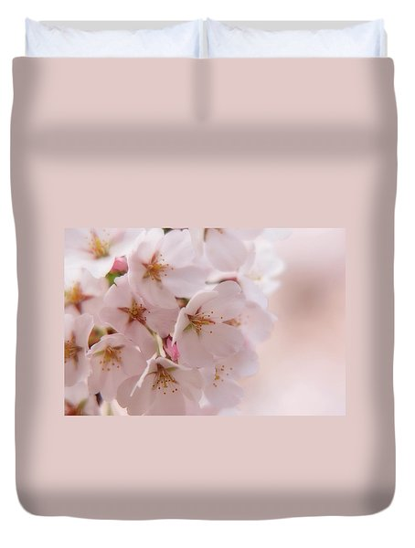 Delicate Spring Blooms Duvet Cover