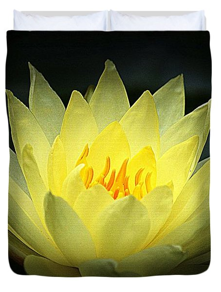 Delicate Water Lily Duvet Cover