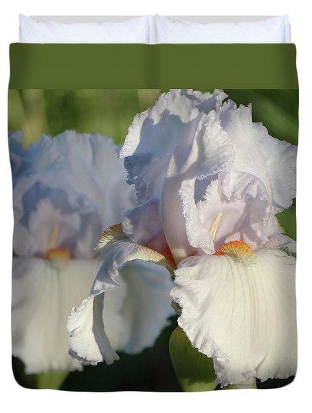 Delicate White Iris Duvet Cover