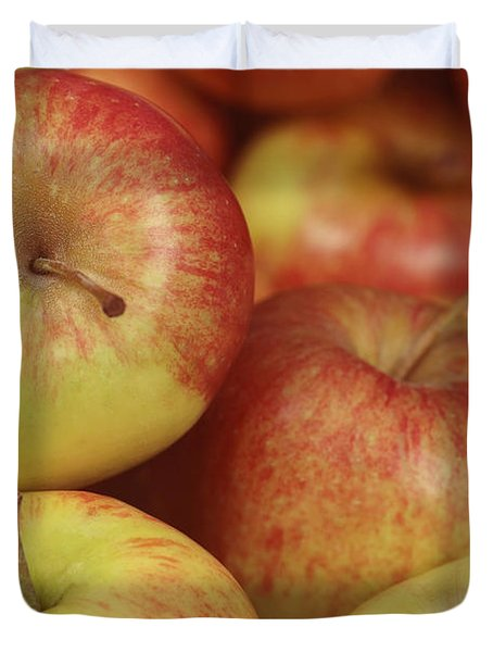 Delicious Apple Fruit Background Duvet Cover