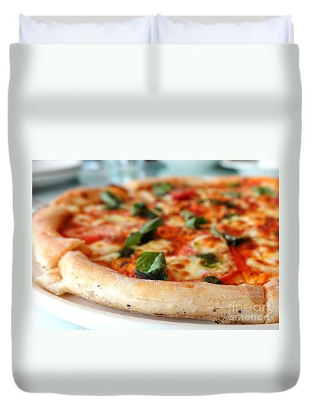 Delicious Crust Of Pizza Margherita Duvet Cover