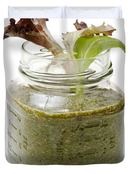 Delicious Kale Smoothie Duvet Cover