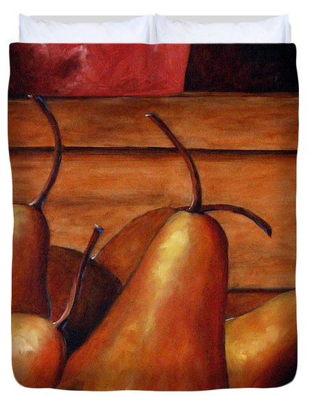 Delicious Pears Duvet Cover by Richard T Pranke