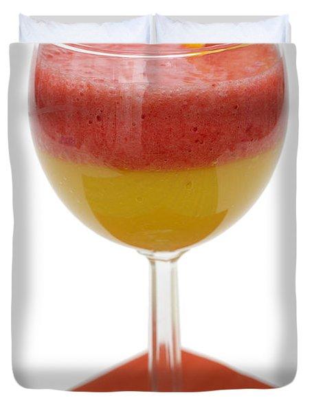 Delicious Strawberry Papaya Smoothie Duvet Cover