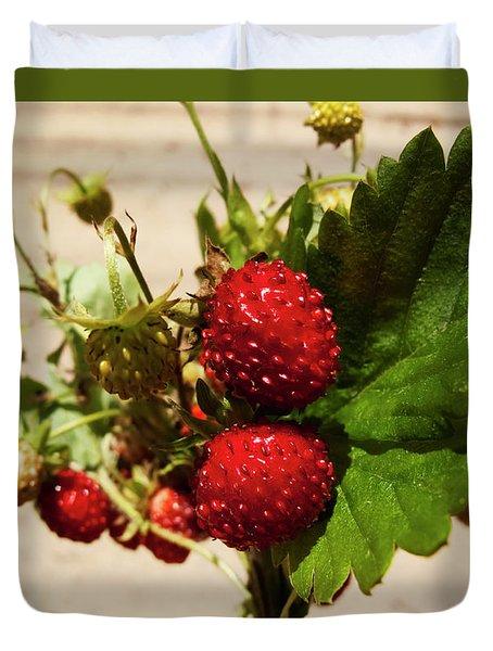 Delicious Wild Strawberry Duvet Cover