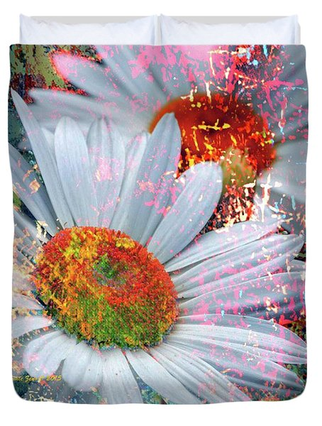 Delightful Daisies Duvet Cover by Annie Zeno
