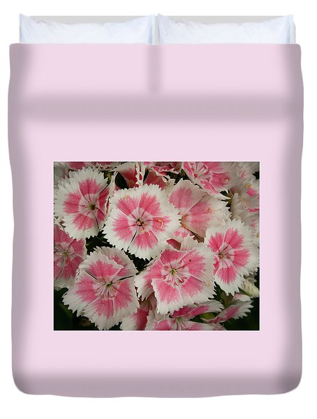 Duvet Cover featuring the photograph Delightful Dianthus by Jean Noren