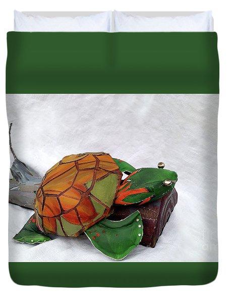 Delilah De Turtle Duvet Cover