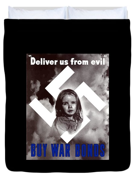 Deliver Us From Evil Duvet Cover