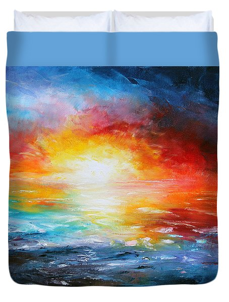 Delivered Duvet Cover by Meaghan Troup