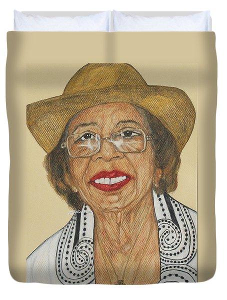 Della Willis Portrait Duvet Cover