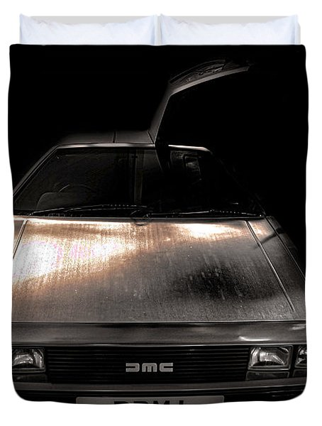 Delorean Duvet Cover