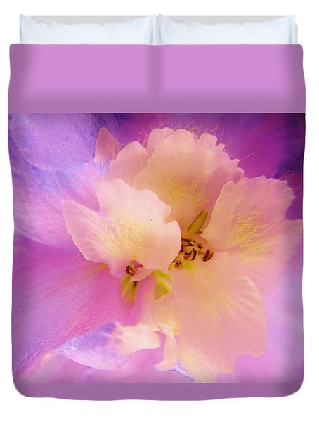 Delphinium Abstract Duvet Cover