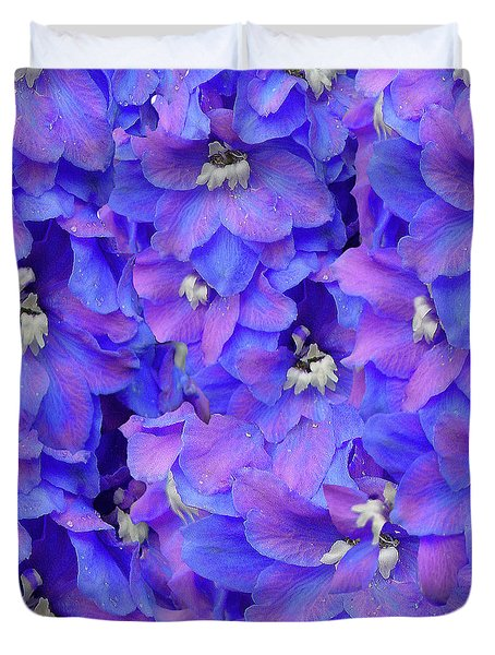 Delphinium Blue Duvet Cover by Shirley Heyn