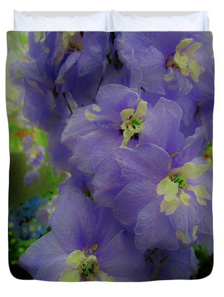 Delphinium Blues Duvet Cover