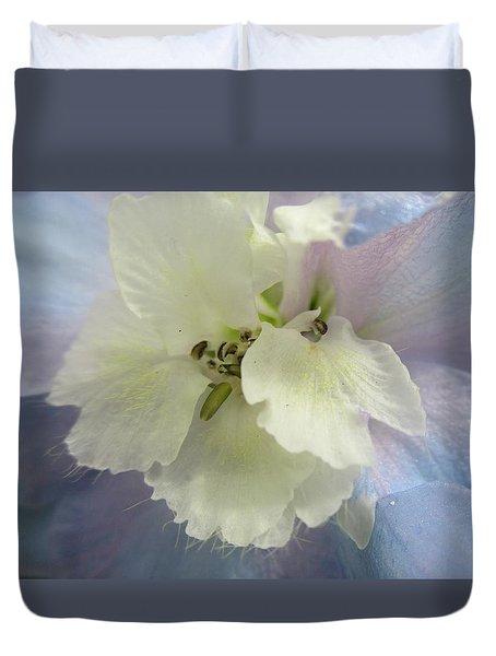 Delphinium Macro Duvet Cover