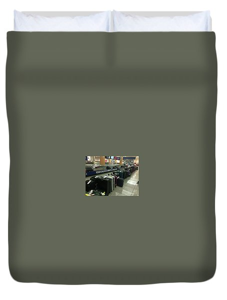Duvet Cover featuring the photograph Delta Irony by David Bearden