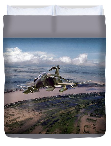 Duvet Cover featuring the digital art Delta Deliverance by Peter Chilelli