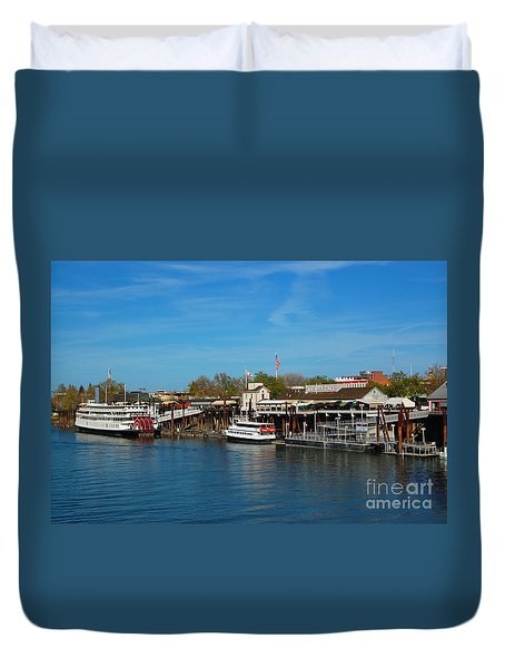 Duvet Cover featuring the photograph Delta King by Debra Thompson