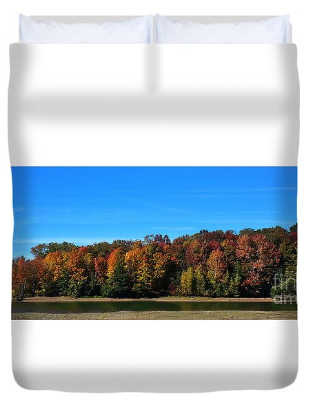 Delta Lake State Park Foliage Duvet Cover by Diane E Berry