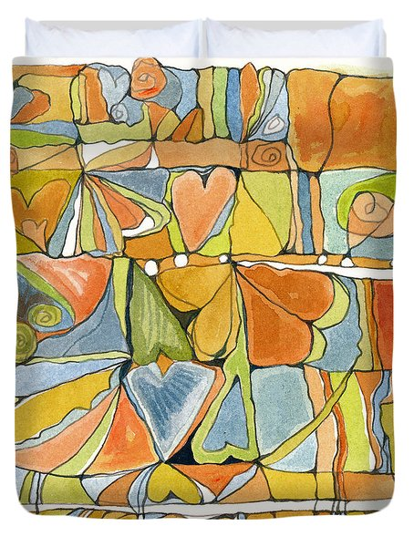 Delusions Of The Heart Duvet Cover by Linda Kay Thomas