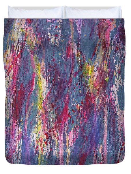 Duvet Cover featuring the painting Delve Deep 2 by Mini Arora