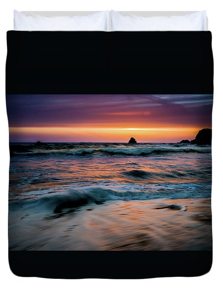 Demartin Beach Sunset Duvet Cover