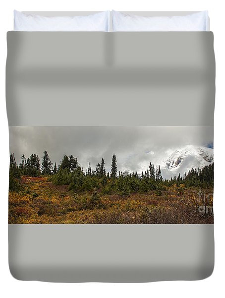 Mt. Rainier - Head In The Clouds Duvet Cover