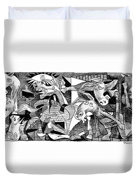 Democrat Guernica Duvet Cover