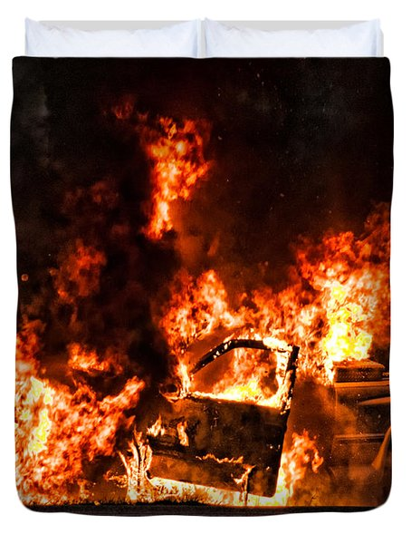 Demon Released Duvet Cover by Christopher Holmes