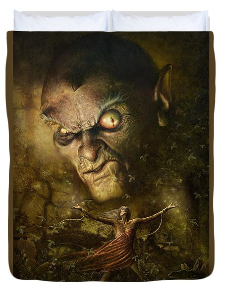 Demonic Evocation Duvet Cover