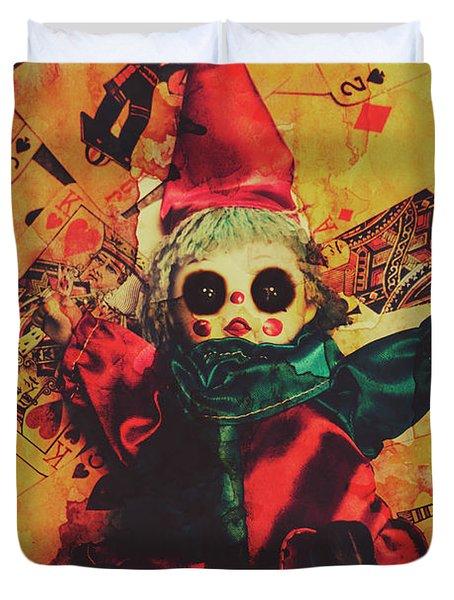 Demonic Possessed Joker Doll Duvet Cover